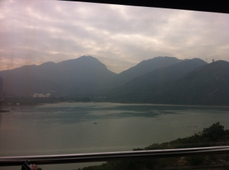 view from the cable car leaving Tung Chung.