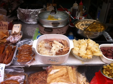 Intriguing food to buy from the street stalls