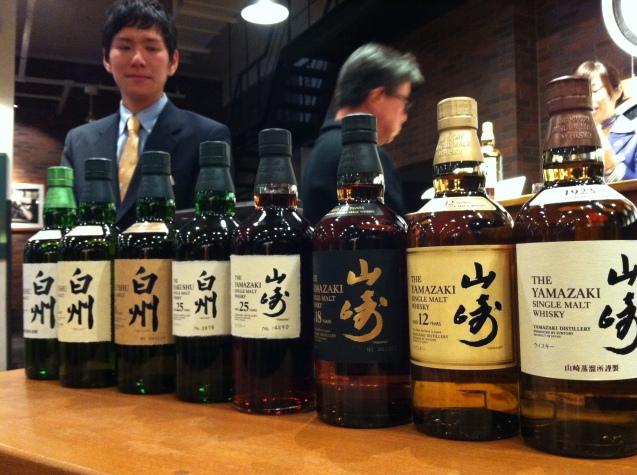 The full Yamazaki and Hakushu range