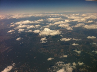 Amazing View of Mount Fuji from the Plane