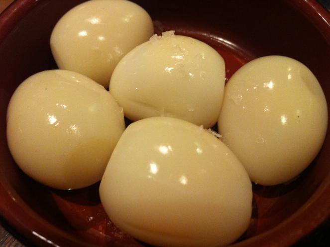 Smoked Quail Eggs