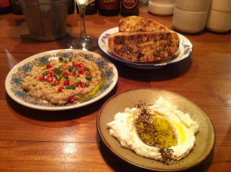 Babaganoush and my favourite - Labneh!