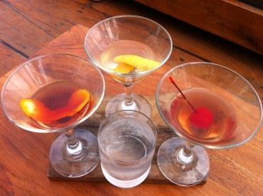 Trilogy - martini, negroni and manhattan