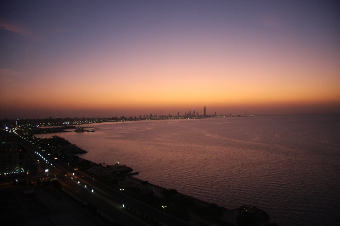 Sunset over Kuwait