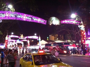 Deepawali lights in Little India