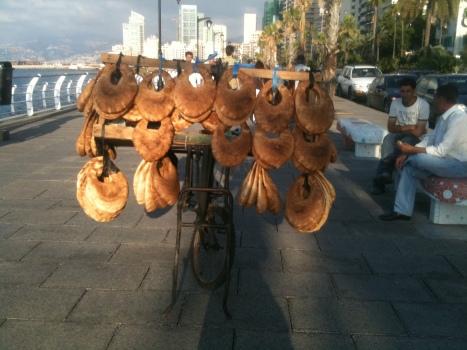 Kaak Bread Seller, The Corniche, Beirut