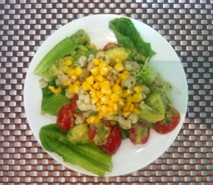 Avocado, Cauliflower, Sweet corn Salad